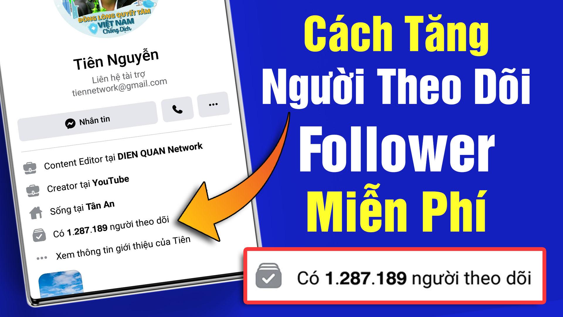 Cách tăng lượt theo dõi Follower trên Facebook miễn phí đơn giản dễ làm