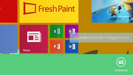 Cara Mengubah Warna Tampilan Start Screen Windows 8.1