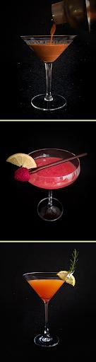 Trio de Martinis: café com chocolate, framboesa e pimenta