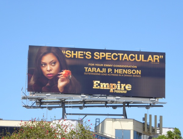 Empire Taraji P Henson 2015 Emmy billboard