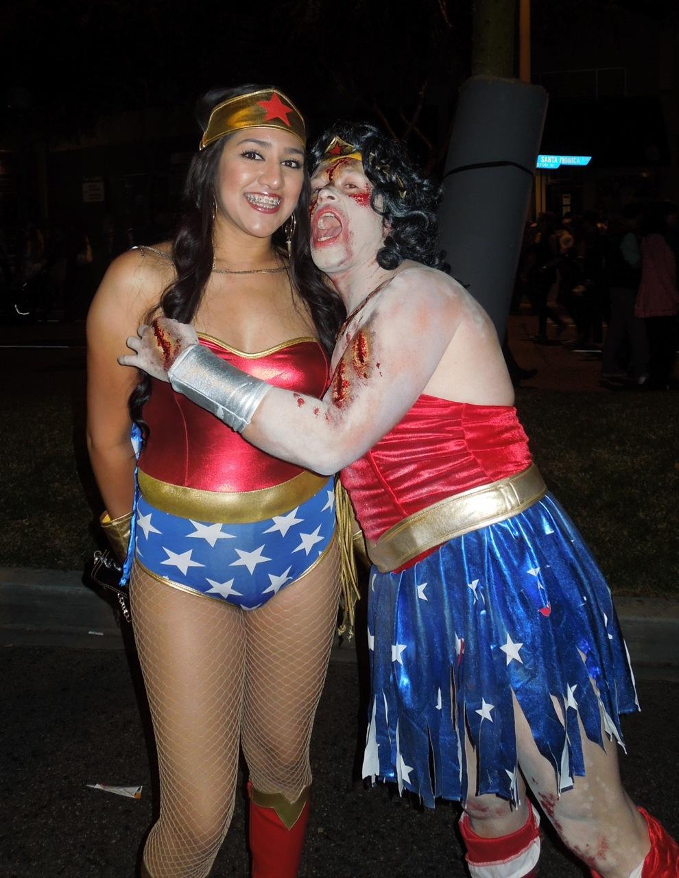 Zombie Wonder Woman ravages West Hollywood's Halloween Carnaval ...