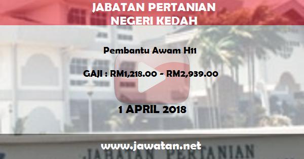 Jawatan Kosong di Jabatan Pertanian Negeri Kedah Darul Aman