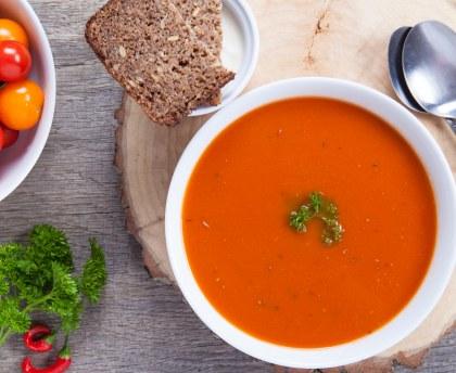 Tomato soup with pistou