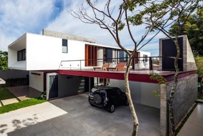 atap datar rumah minimalis