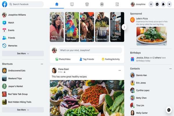 فيسبوك تطلق أخيرا الشكل الجديد على نسختها المكتبية