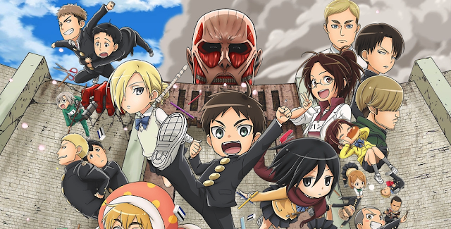 Bohaterowie anime Attack On Titan Junior High