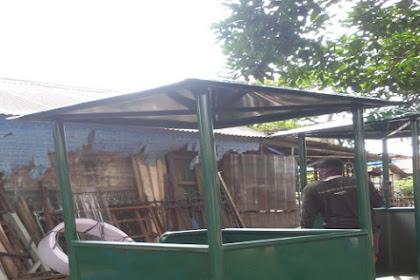 Pos Satpam Besi pesanan PT Hans Enjiniring dan Kontruksi di Cilegon Banten