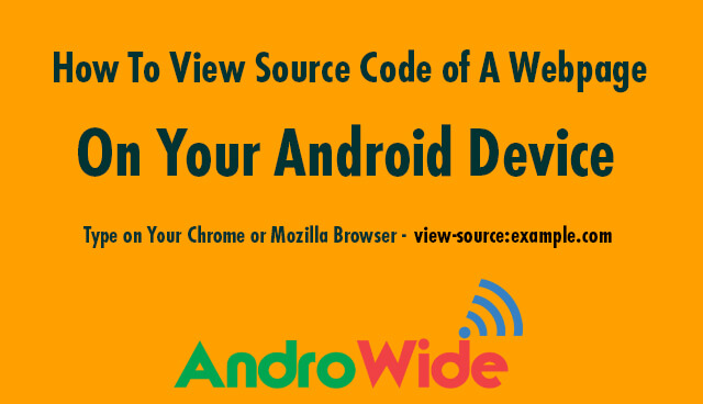 view source code of webpage on android mobile