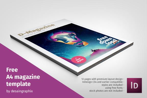 Pada Posting Ini Saya Akan Membagikan File Template Desain Majalah Dalam Format Adobe Indesign Asli Buatan Desaingraphix Layoutnya Kelas Premium
