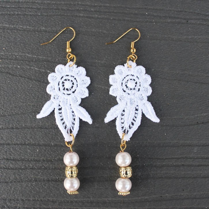 diy lace earrings with darby smart - Gina Michele