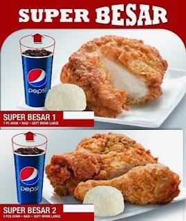 Daftar Harga Menu KFC Super Besar