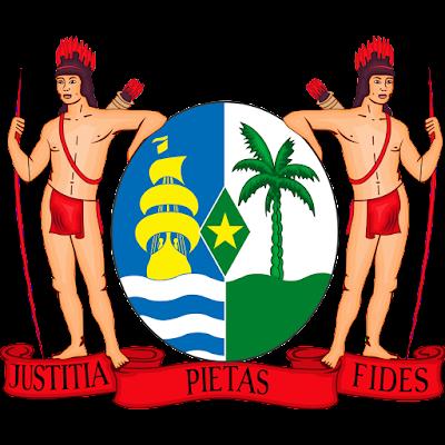Coat of arms - Flags - Emblem - Logo Gambar Lambang, Simbol, Bendera Negara Suriname
