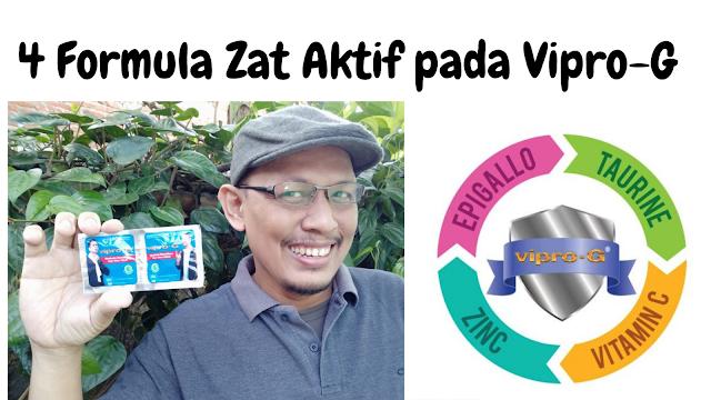 4 formula zat aktif yang terkandung pada Vipro-G