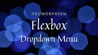 Dropdown Navigation Menu using Flexbox   CSS Neumorphism