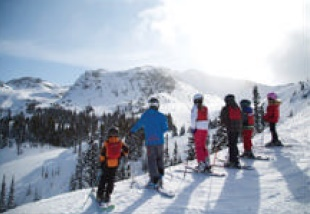 A ski school at Whistler