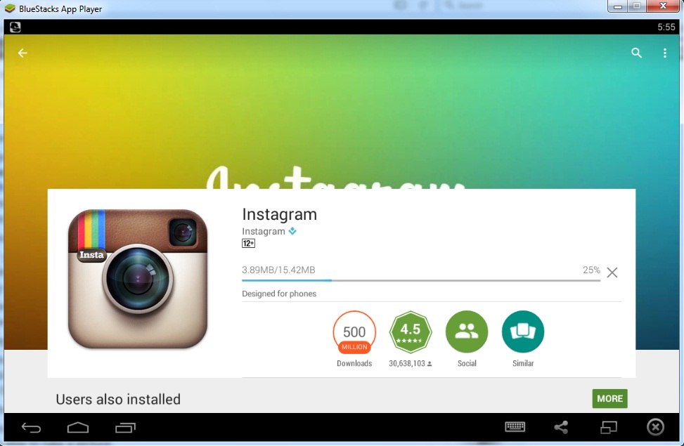 Download instagram apk for pc