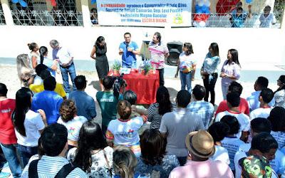 Politicagem na reinauguração de escola em Chapadinha
