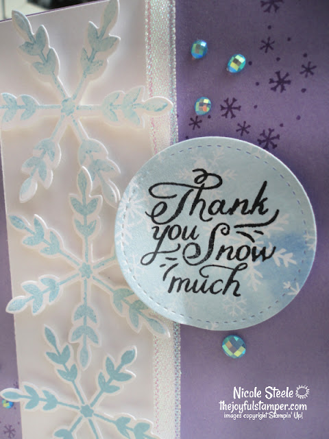 snowflake wishes, stampin' up!, holiday mini catalog, winter cards, thank you cards, handmade cards, nicole steele, independent stampin' Up! demonstrator, the joyful stamper, pittsburgh pa