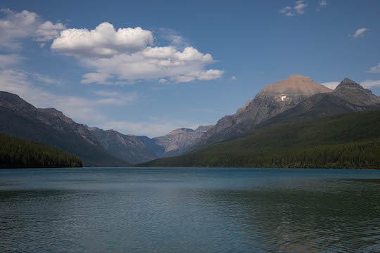 Bowman Lake near Polebridge in Glacier National Park