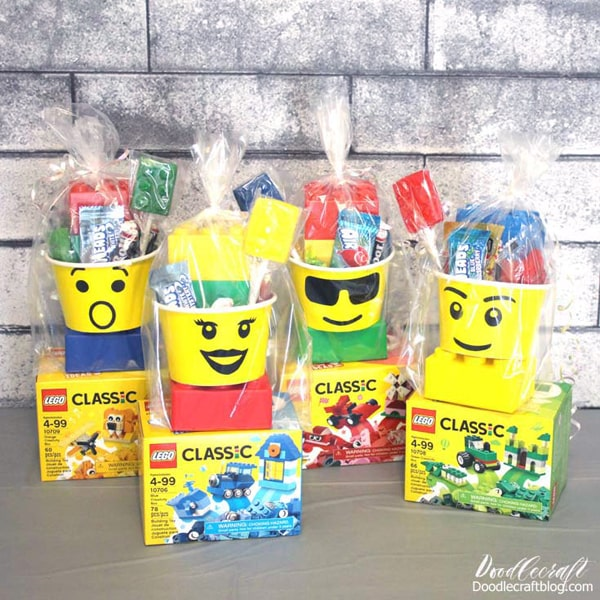 Lego party favors for an epic Lego birthday party take home gifts