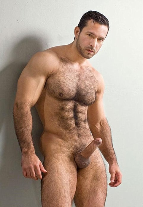 Chested models hairy