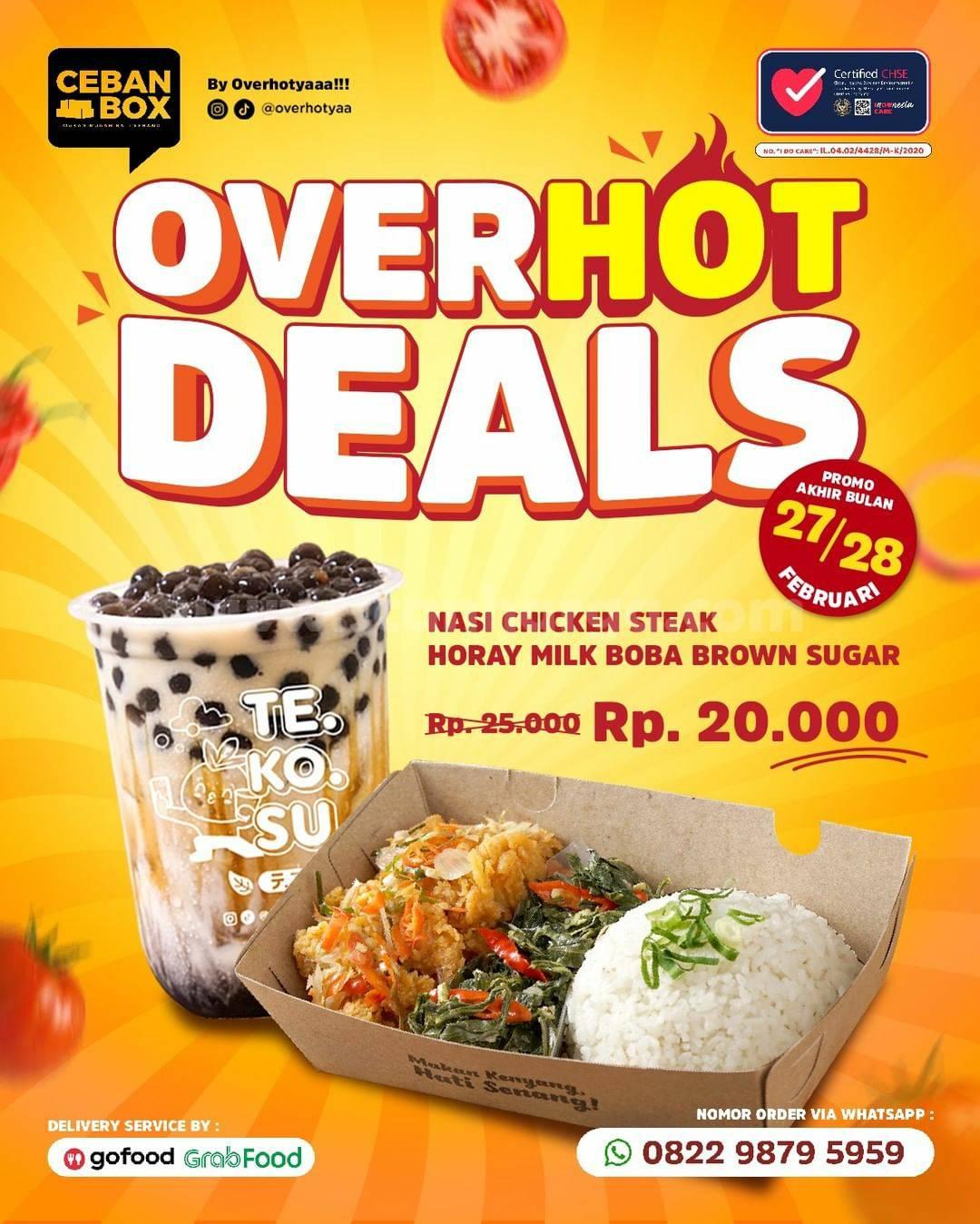 OVER HOT YAA Promo Paket OVERHOT DEAL! Harga cuma Rp 20.000