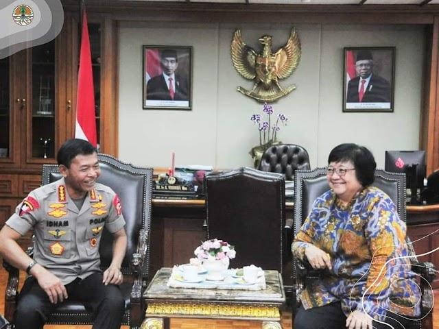 Menteri LHK dan Kapolri Bersepakat Tangani Masalah LHK