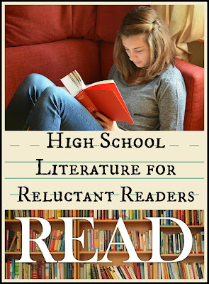High School Literature for Reluctant Readers on The Homeschool Post - introduction on Homeschool Coffee Break @ kympossibleblog.blogspot.com - Follow me over to hsbapost.com for the rest!