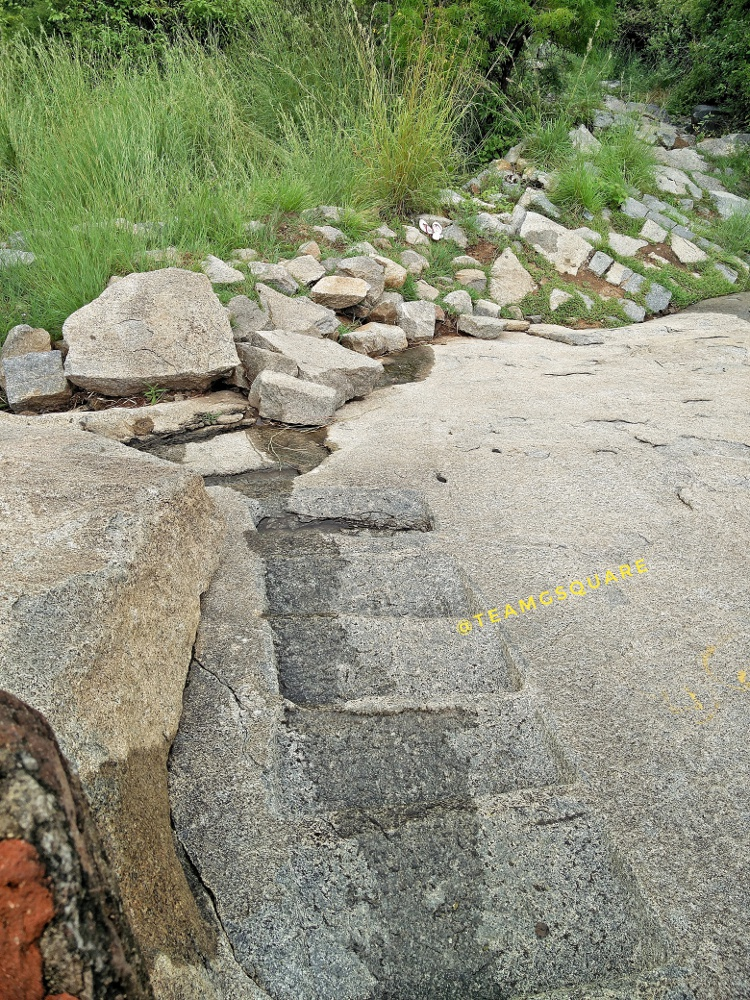 Rock Cut Steps, Krishnagiri Fort