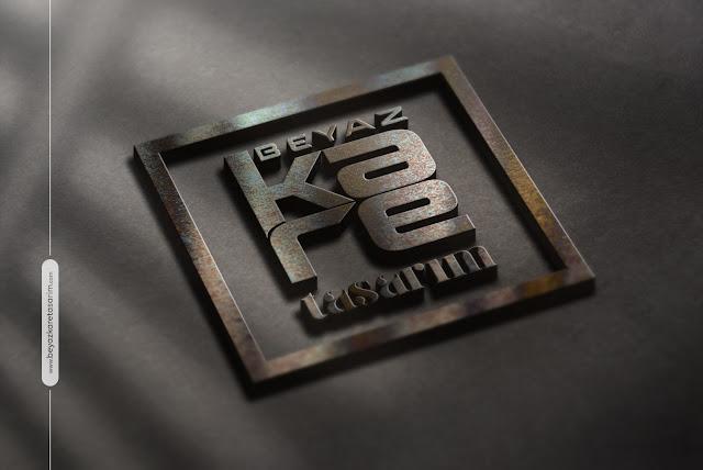 3D logo tasarımı retro kabartma
