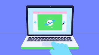 عرض لوحة اللمس على جهاز كمبيوتر محمول