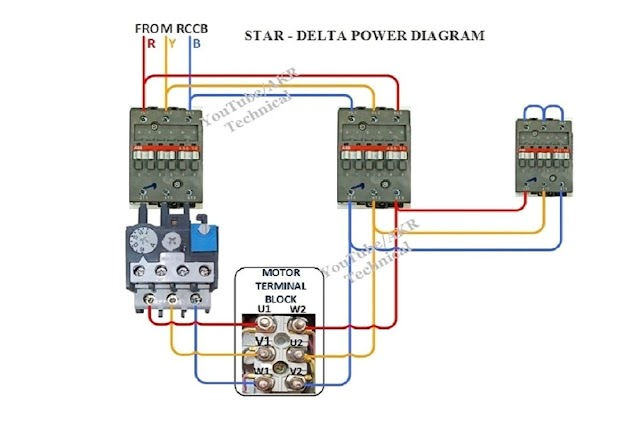 Star Delta Control Wiring and Power wiring