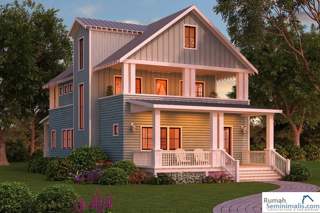 merupakan kebutuhan pokok setiap manusia Denah Model Desain Gambar Rumah Minimalis Idaman Modern Tipe 54
