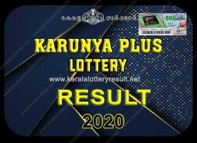 KARUNYA PLUS LOTTERY RESULTS 2020
