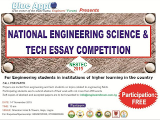 NESTEC 2019 Essay Competition for Engineering Students | Apply Now