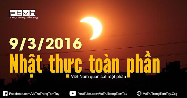 [Ftvh] Quan sát Nhật thực ở Việt Nam vào sáng ngày 9/3.