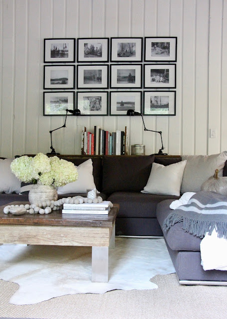 ~our rustic modern neutral fall family room~