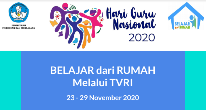 Panduan BDR di TVRI Minggu Ke 33 (23 – 29 November 2020)