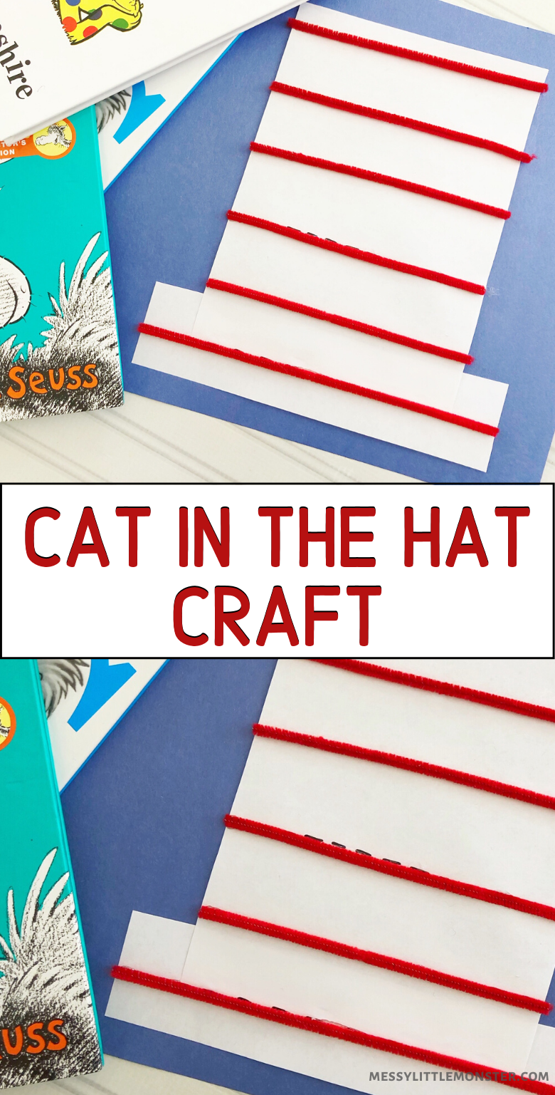 Easy Cat in the Hat Dr Seuss craft for kids