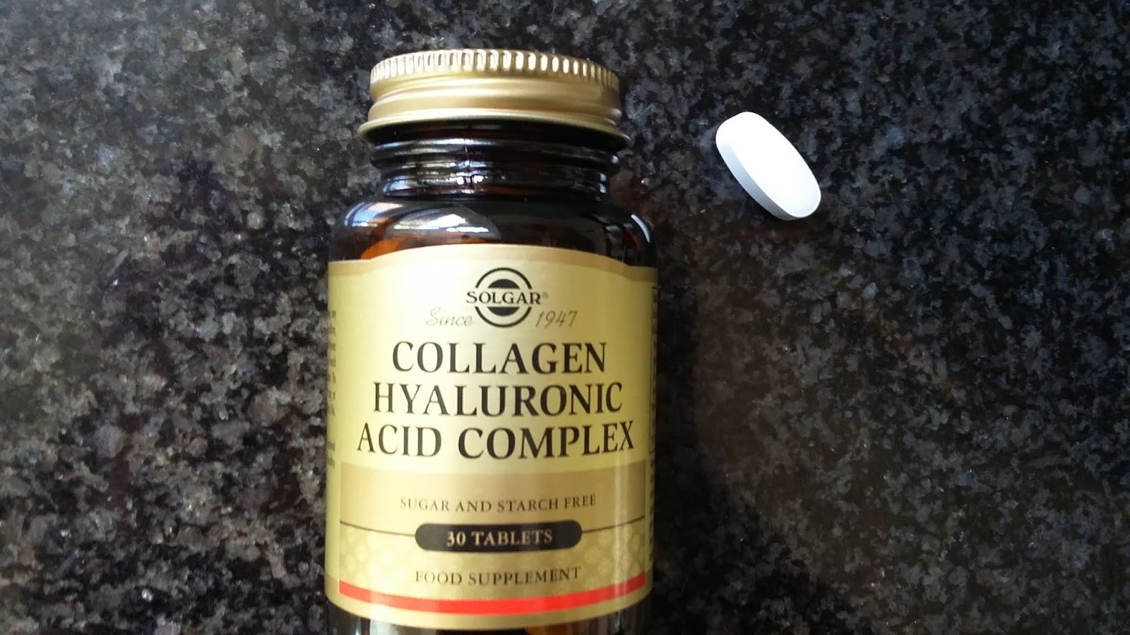 Collagen and hyaluronic acid tablets