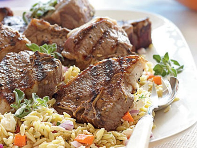 Lemon-Oregano Lamb Chops Menu