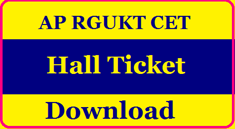 AP RGUKT CET Hall Ticket 2020  RGUKT AP IIIT Exam Date