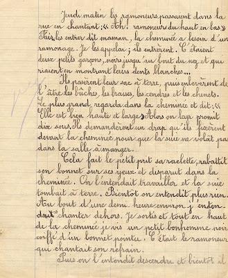 Cahier de rédactions, élève Hélène T., âgée de 11 ans, 1917 (collection musée)