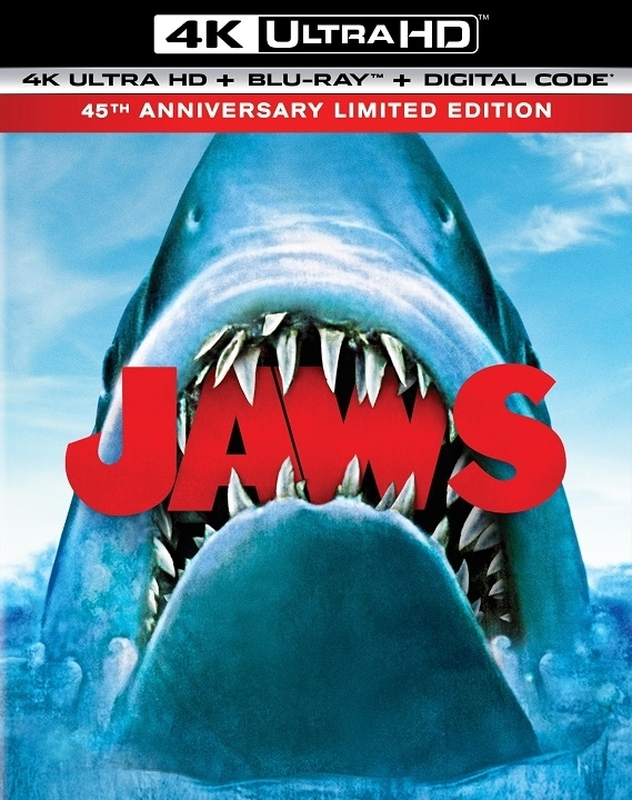 Jaws 45th Anniversary Available on 4K Ultra HD, Blu-ray and Digital on 6/2 (Universal)