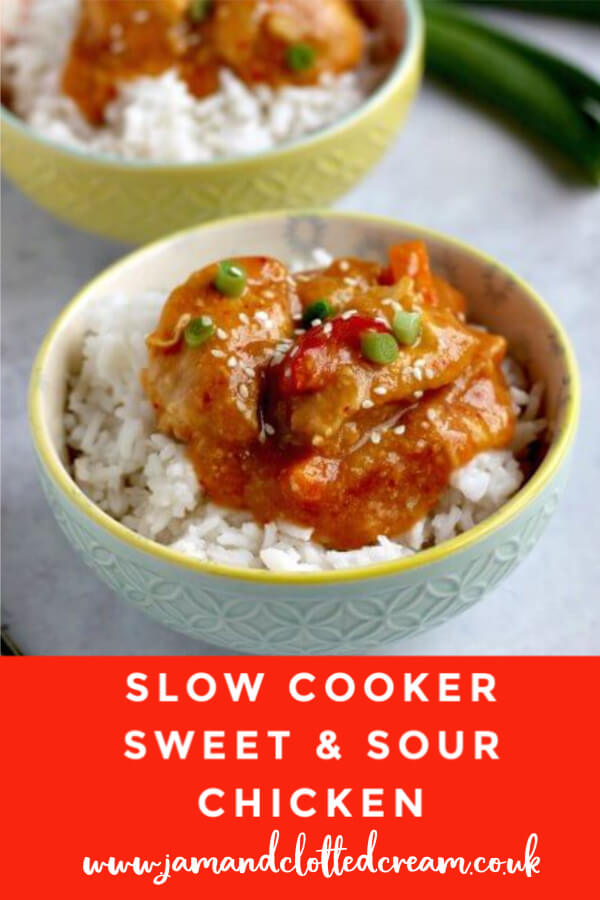 Slow Cooker Sweet & Sour Chicken #slowcooker #crockpot #sweetsour #chicken