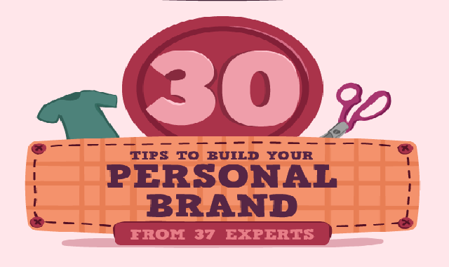 30 Tips To Build Your Personal Brand From 37 Experts #infographic