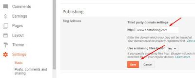 Cara Custom Domain Blogger