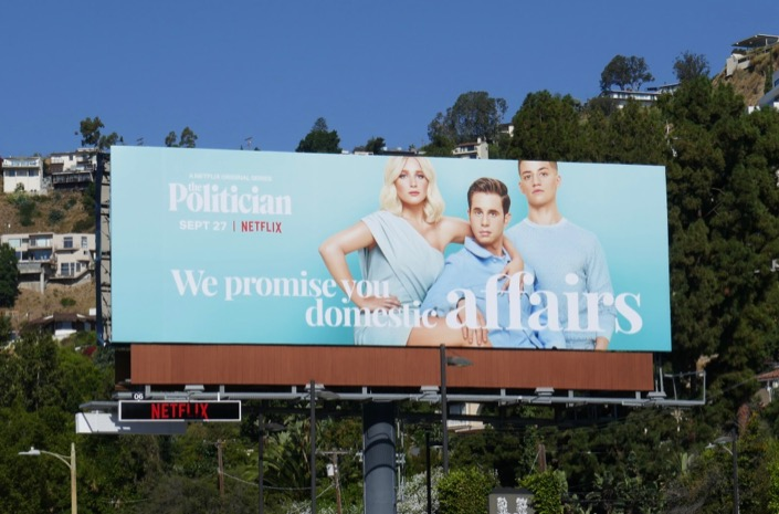 We promise you domestic affairs Politician billboard