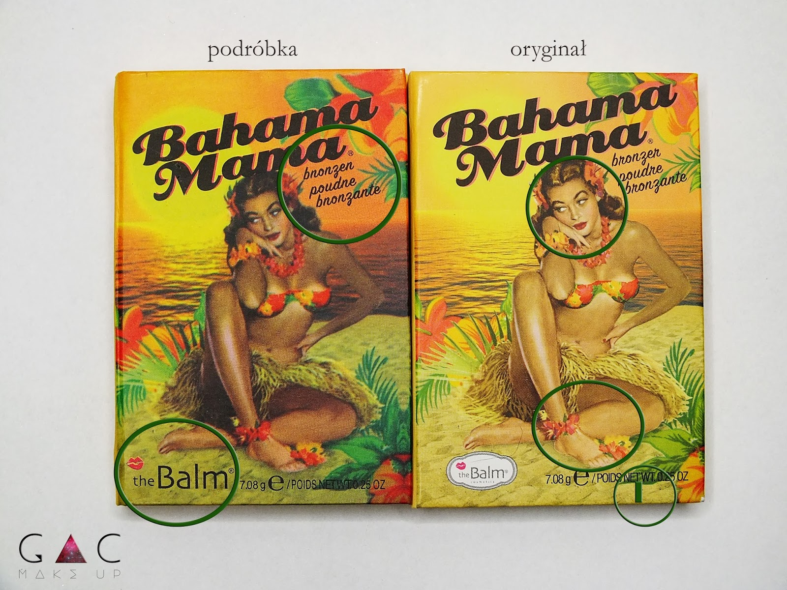 Podróbka vs Oryginał The Balm Bahama Mama. Jak odróżnić podróbkę od oryginału? Porównanie The Balm Bahama Mama. #thebalm #bahamamama