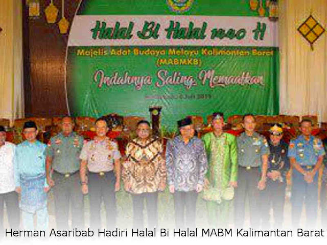 Herman Asaribab Hadiri Halal Bi Halal MABM Kalimantan Barat